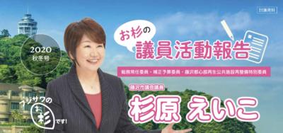 杉原えいこ 議員活動報告 2020秋冬